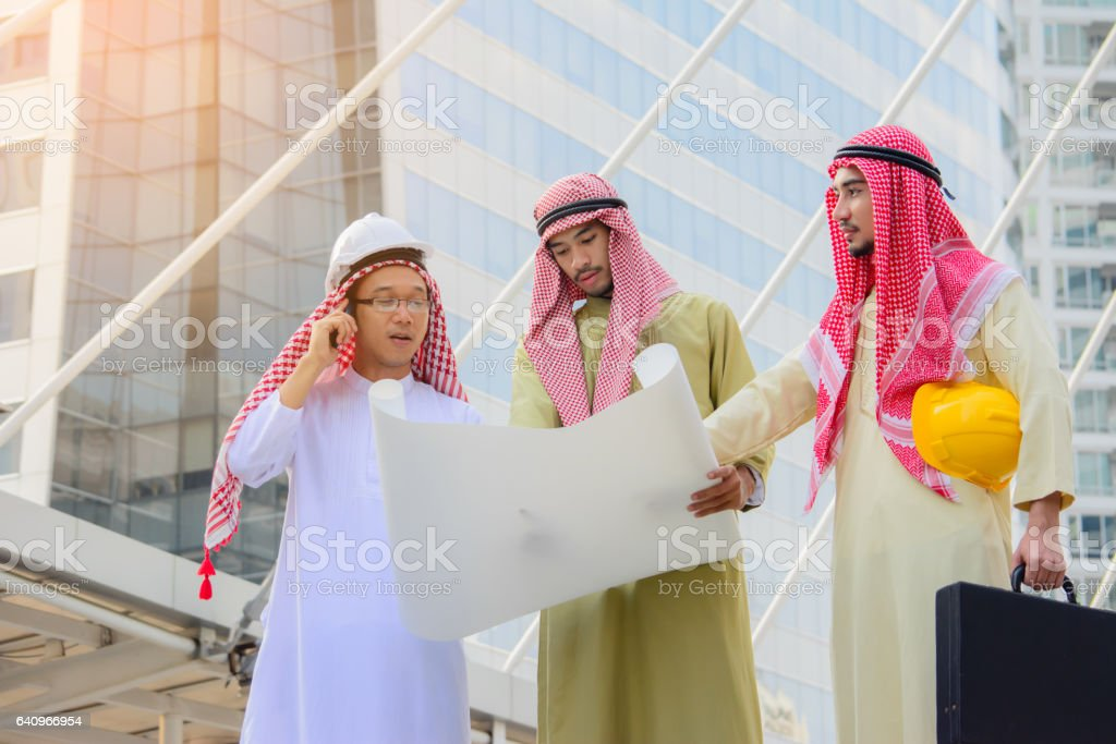 Arab Business people having consultanting about new project. stock photo