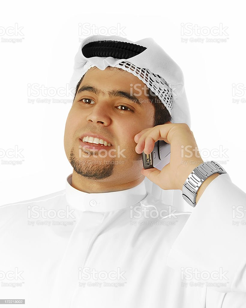 Arab call stock photo