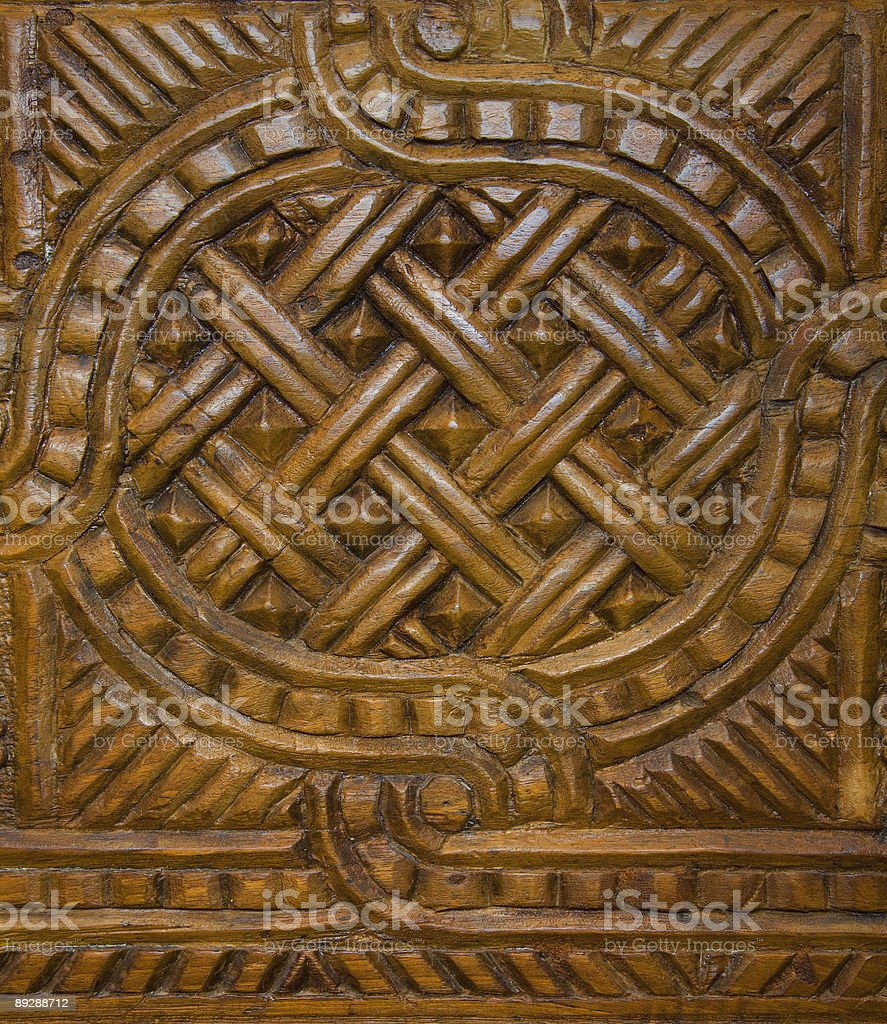 Arab Carved Wood Panel royalty-free stock photo
