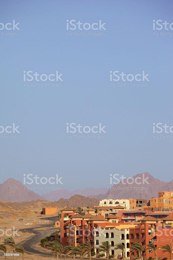 Arab city in the desert. royalty-free stock photo