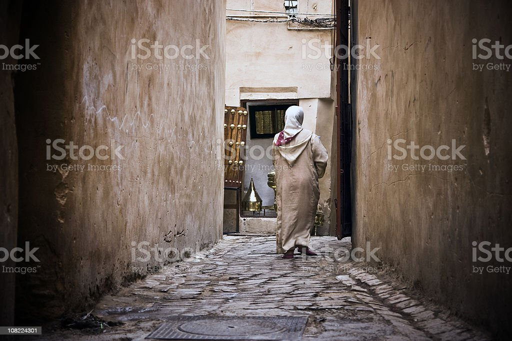 Arab city life stock photo