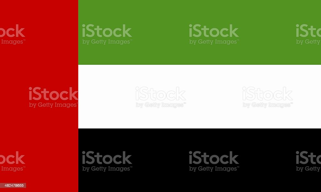 arab emirates flag stock photo