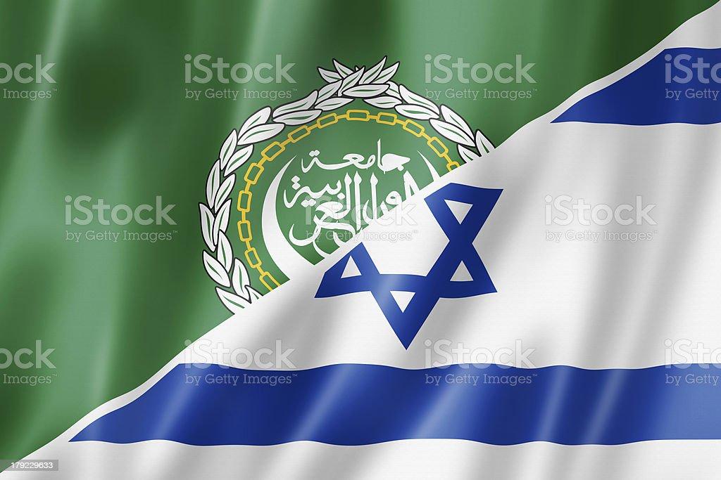 Arab League and Israel flag royalty-free stock photo