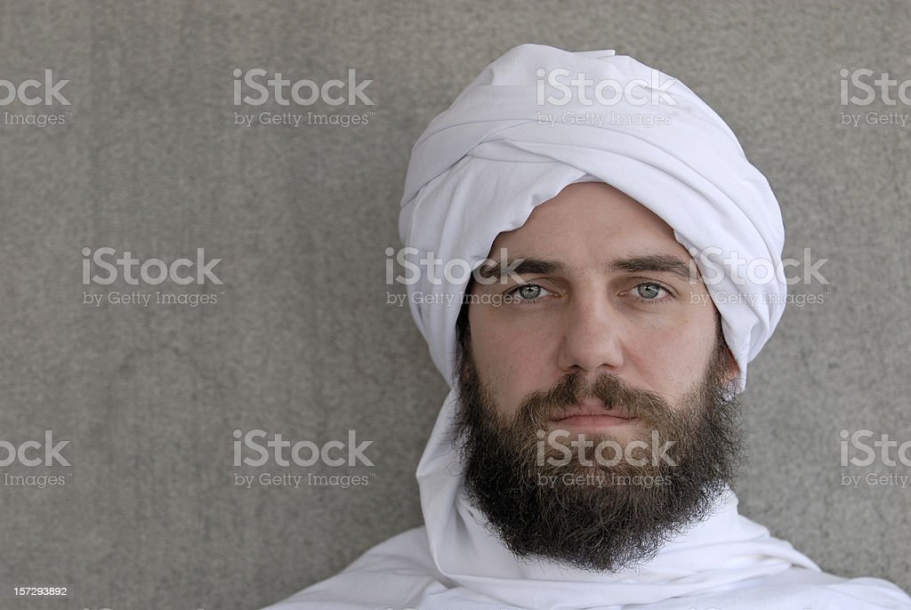 arab looking serious royalty-free stock photo