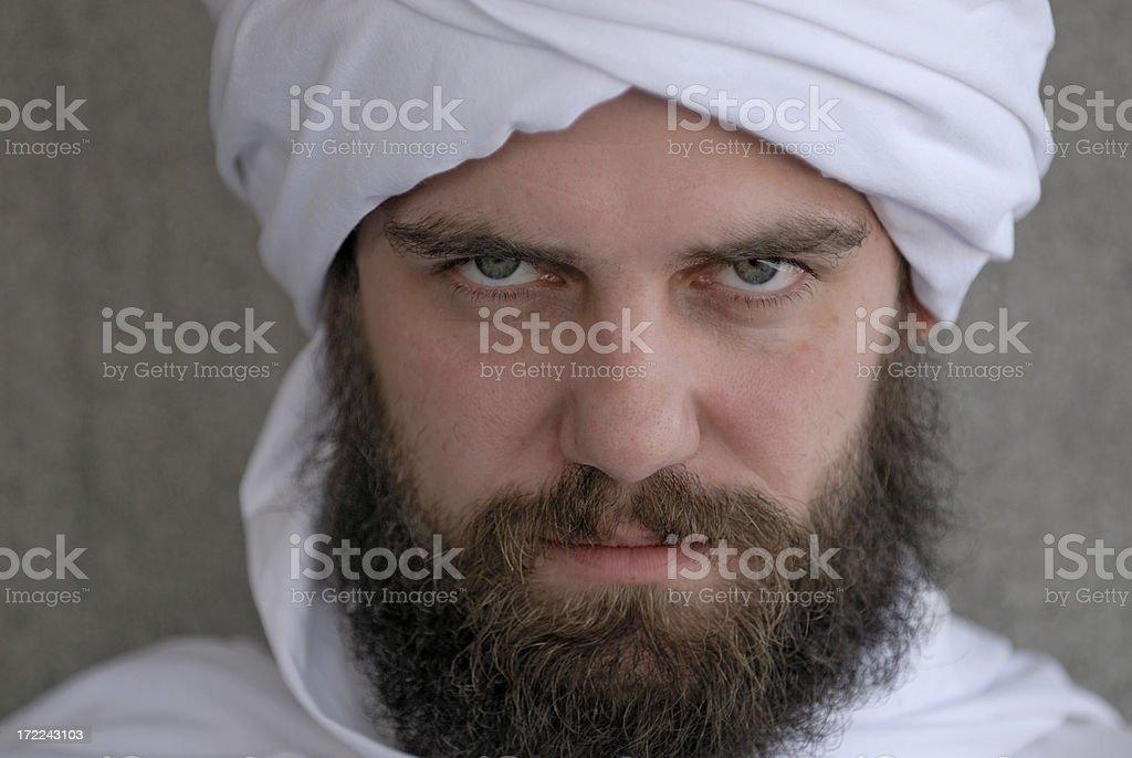 arab looking serious royalty-free stock photo