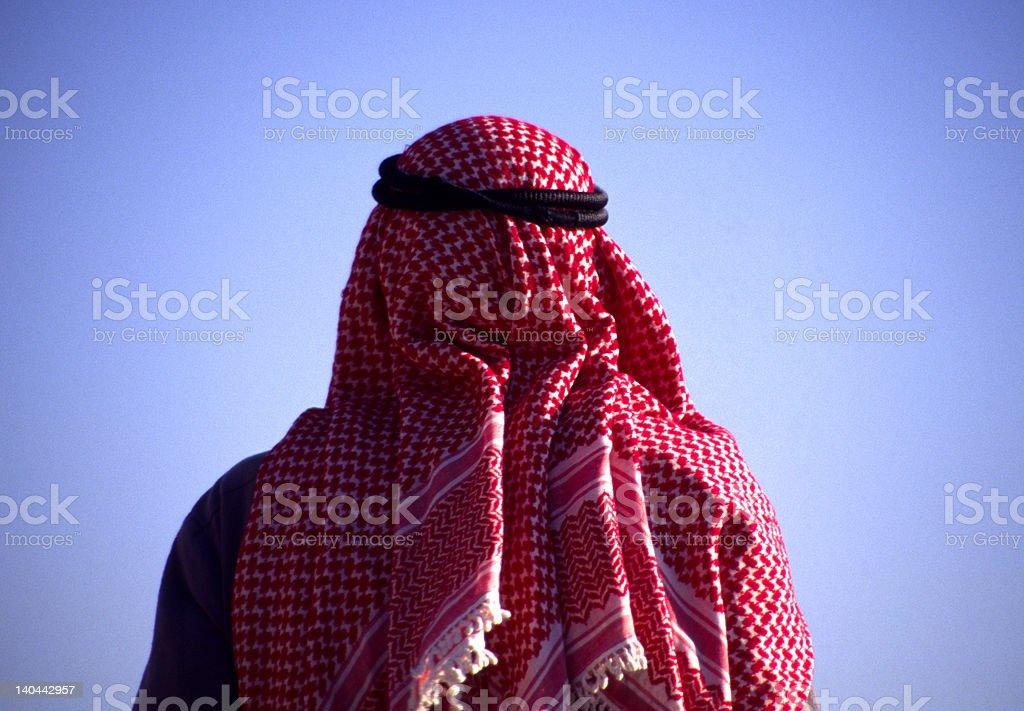 Arab man with veil stock photo