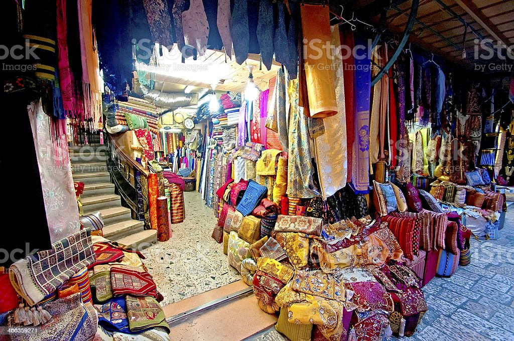Arab market Old city Jerusalem stock photo
