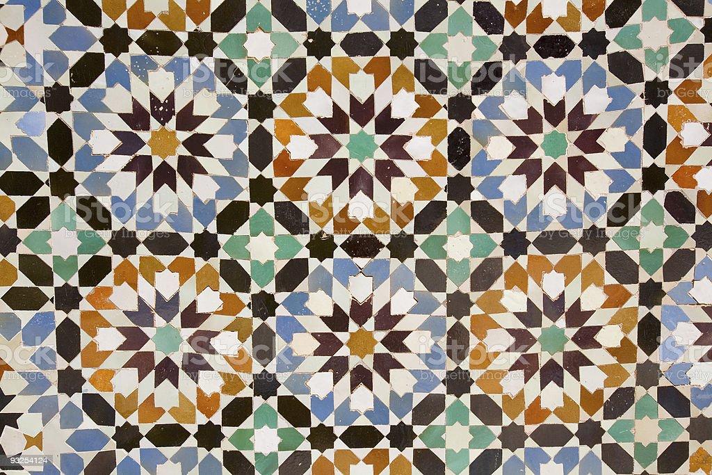 Arab mosaic royalty-free stock photo