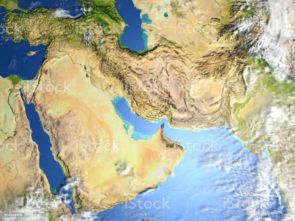 Arab Peninsula on planet Earth stock photo