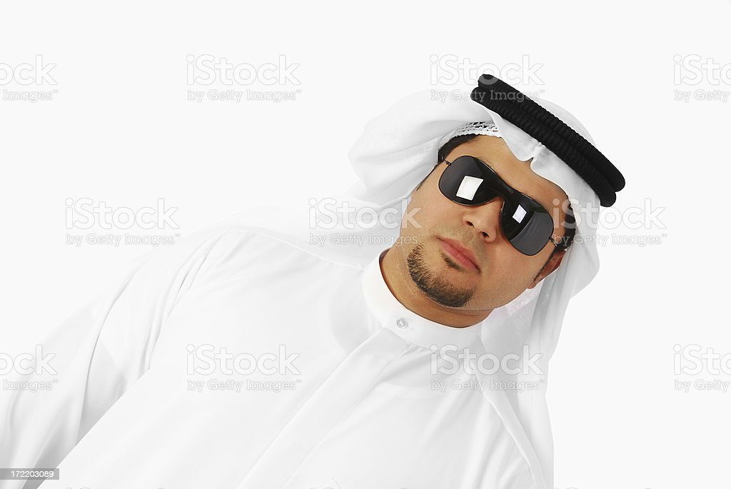 Arab pose stock photo