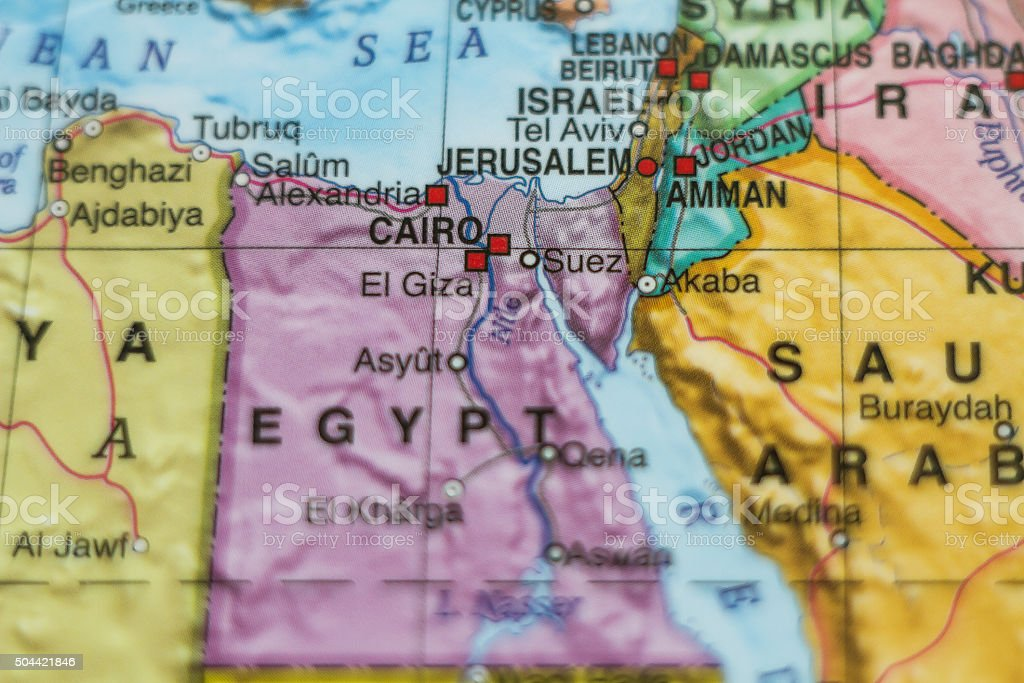Arab Republic of Egypt country map . stock photo