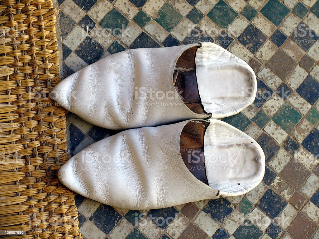Arab shoes royalty-free stock photo