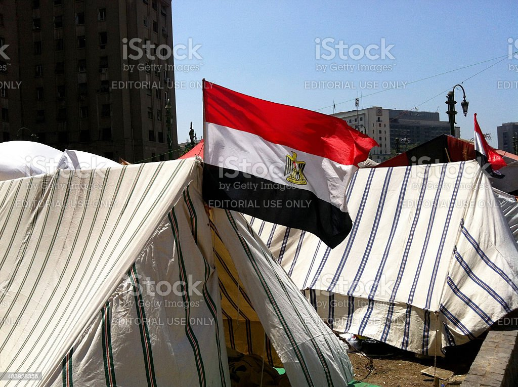 Arab Sping - Tahrir Square Egypt stock photo