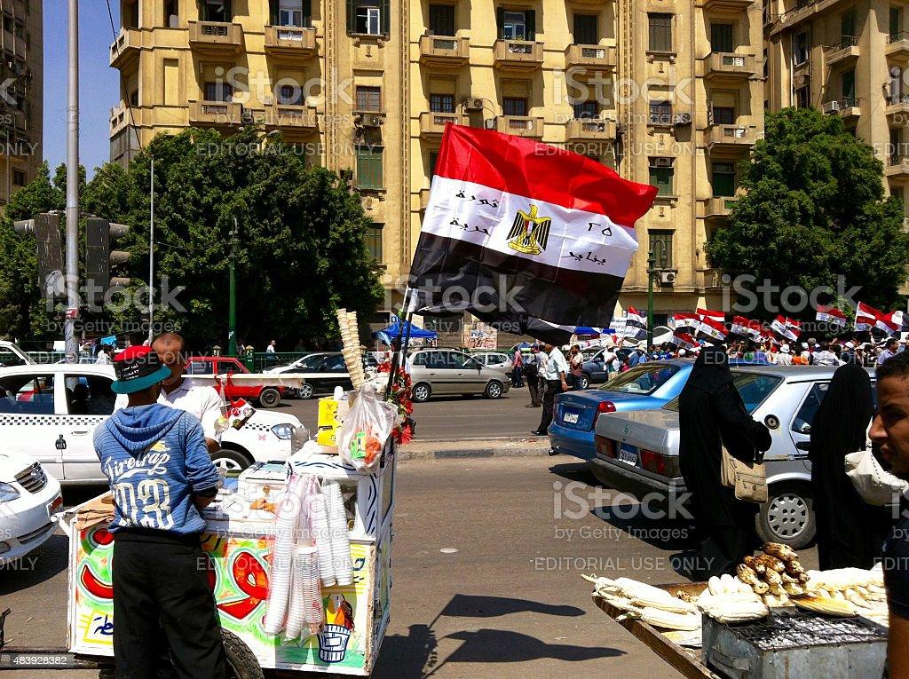 Arab Sping - Tahrir Square Egypt stock photo