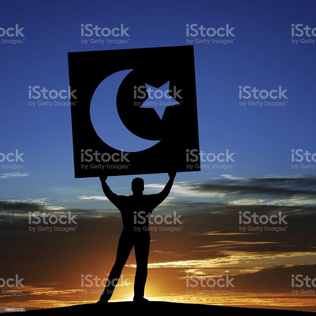 XXXL arab spring activist royalty-free stock photo