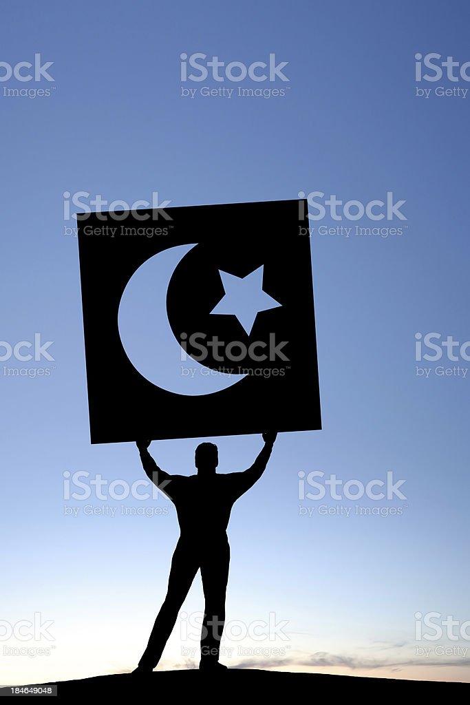 XXL arab spring protestor royalty-free stock photo