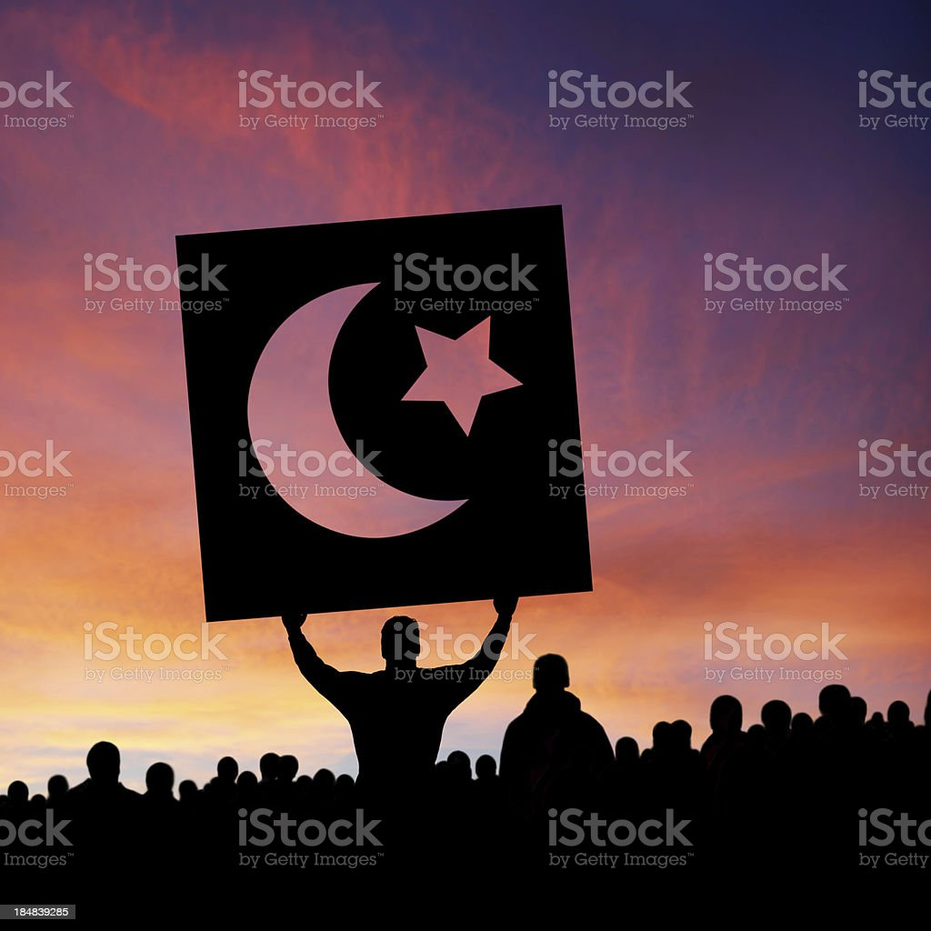 XXXL arab spring protestors stock photo