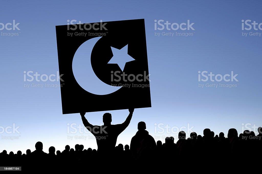 XXXL arab spring protestors stock photo