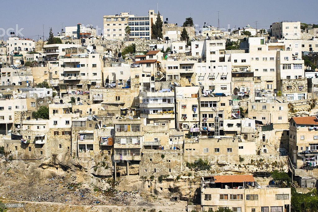 arab village in Jerusalem royalty-free stock photo