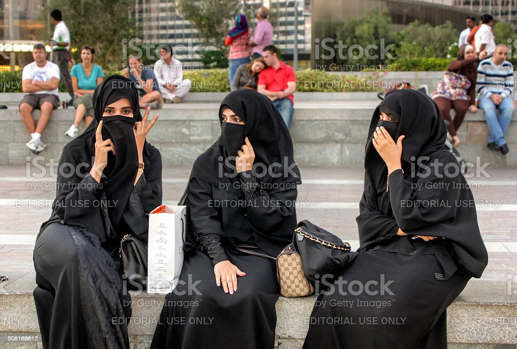 Arab women in Dubai stock photo
