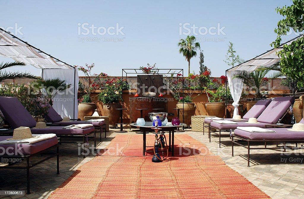 Arabaian terrace royalty-free stock photo