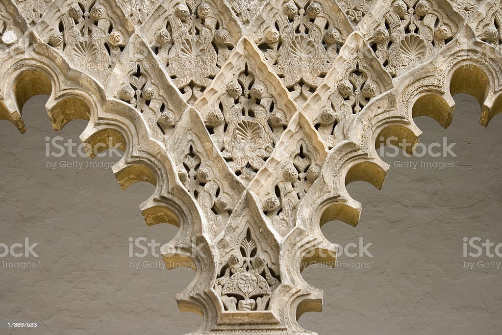 arabesque arch detail royalty-free stock photo
