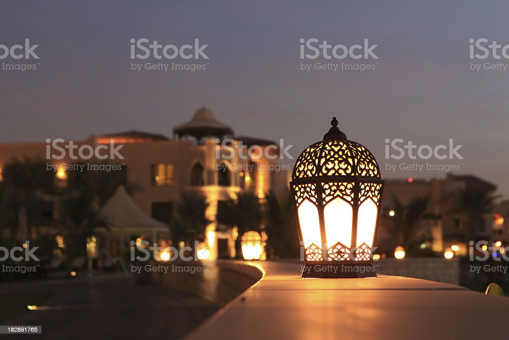 Arabesque lantern stock photo