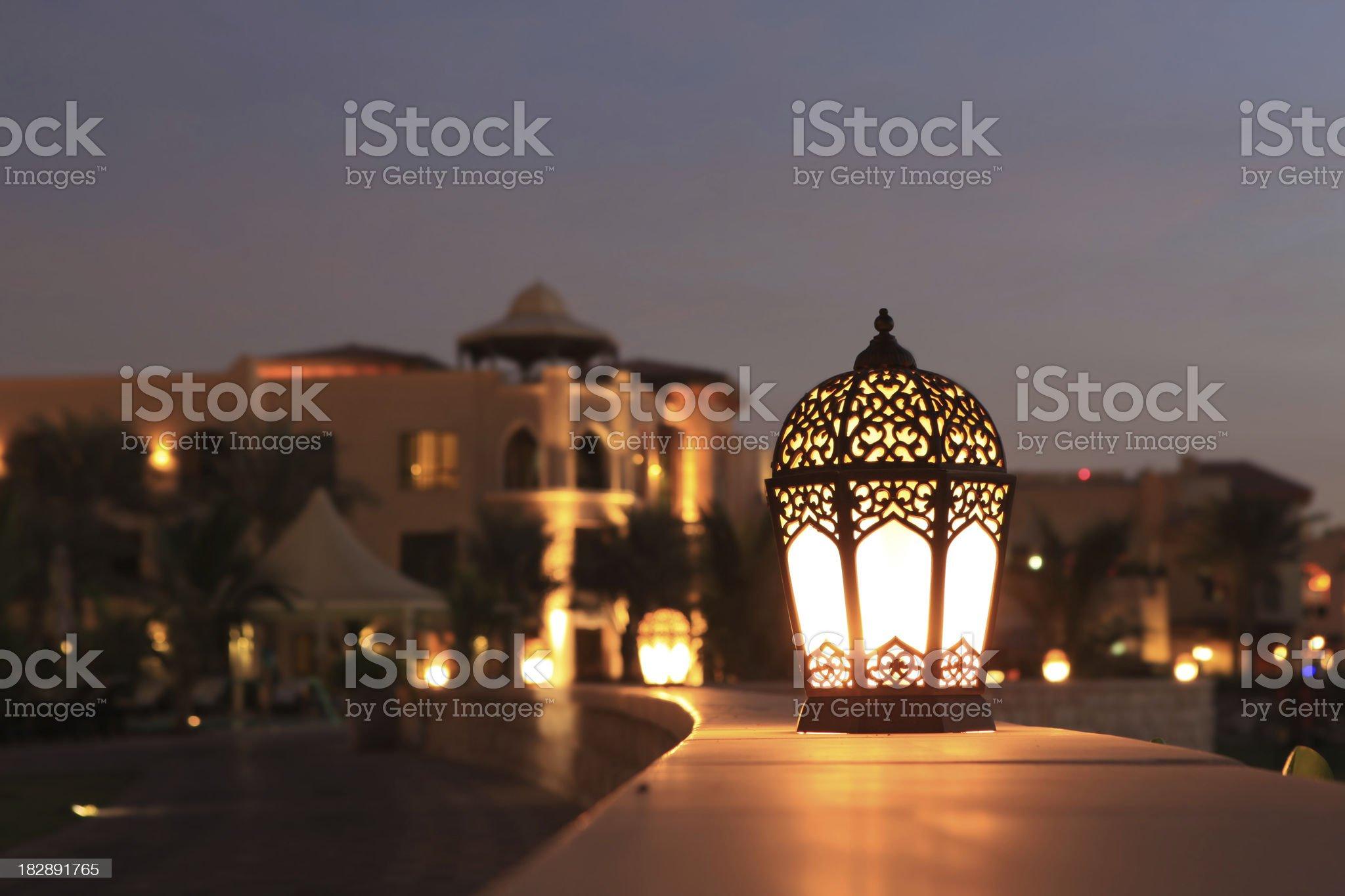 Arabesque lantern royalty-free stock photo