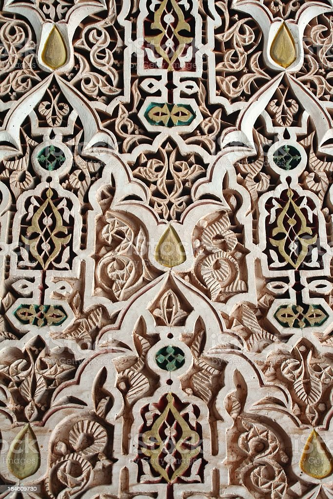 Arabesque pattern wall covering stock photo
