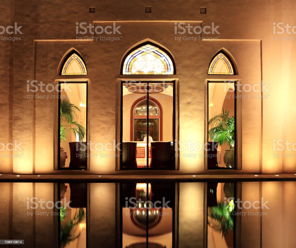arabia architecture royalty-free stock photo