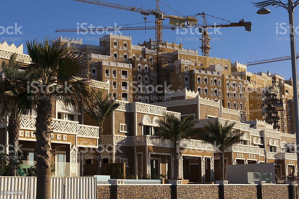 Arabian apartments building site in Dubai royalty-free stock photo