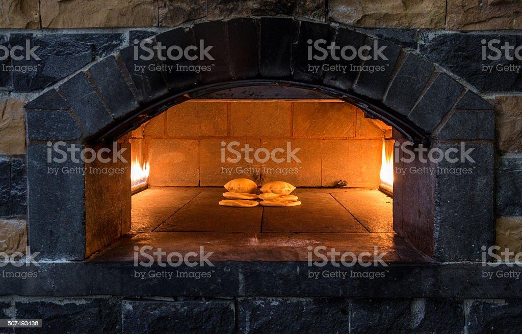 Arabian bakery stock photo