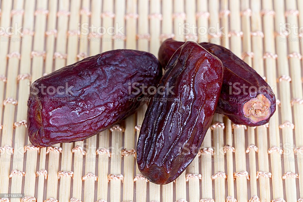 Arabian dates for iftar in Ramadan stock photo