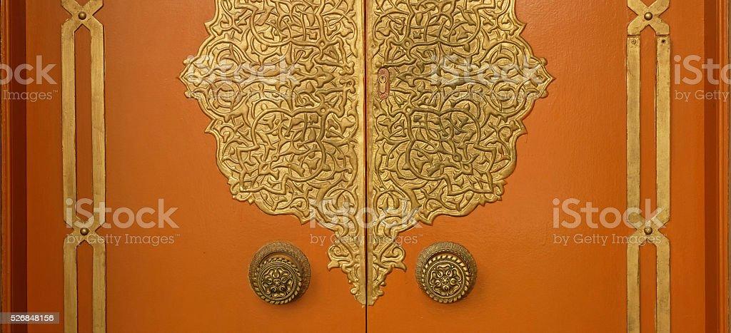 Arabian Door stock photo