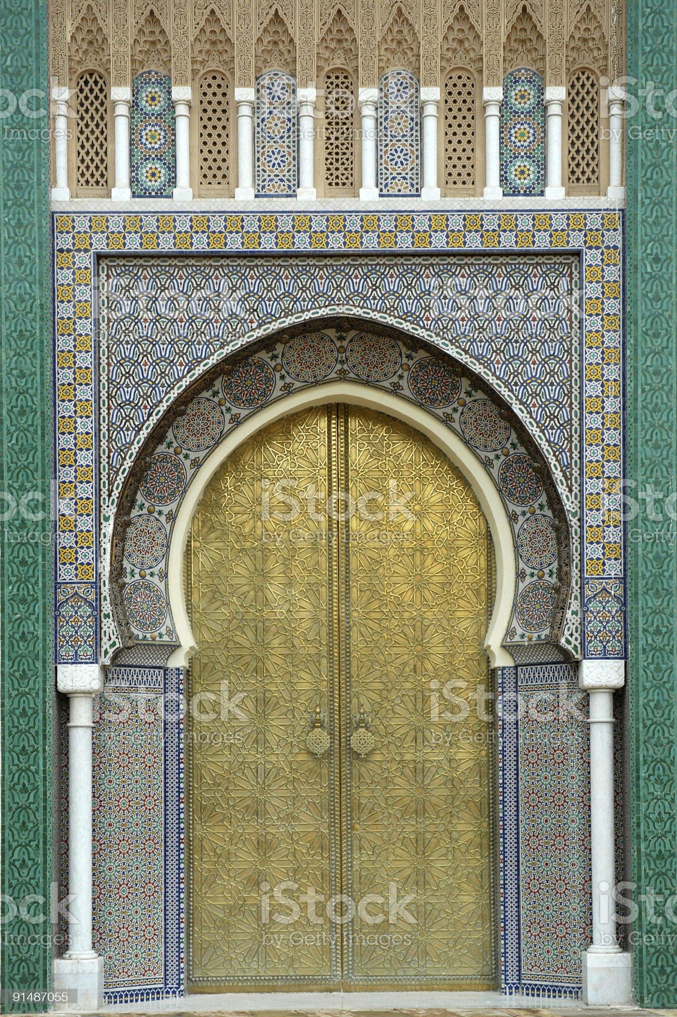 arabian door royalty-free stock photo