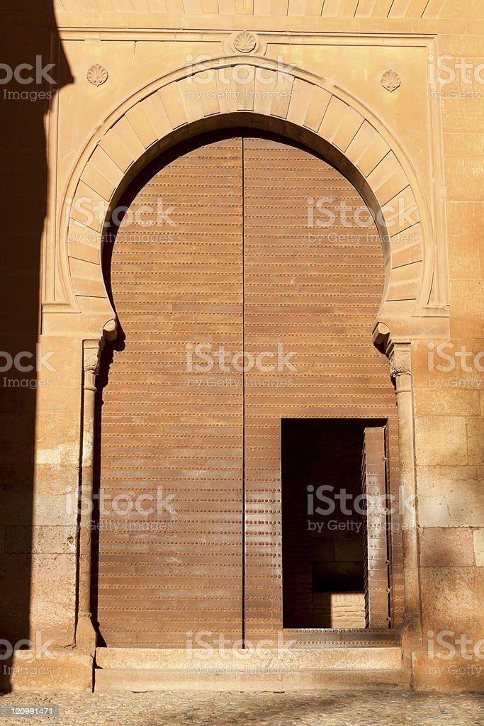 Arabian doorway royalty-free stock photo