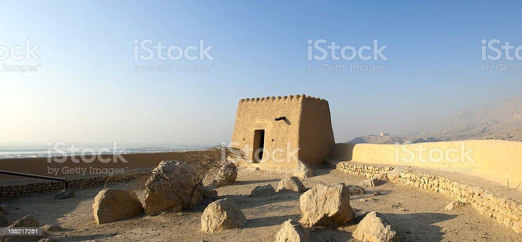 Arabian Fort in Ras al Khaimah United Arab Emirates stock photo