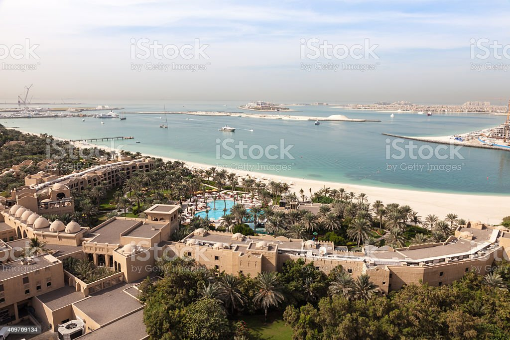 Arabian Gulf coast in Dubai stock photo