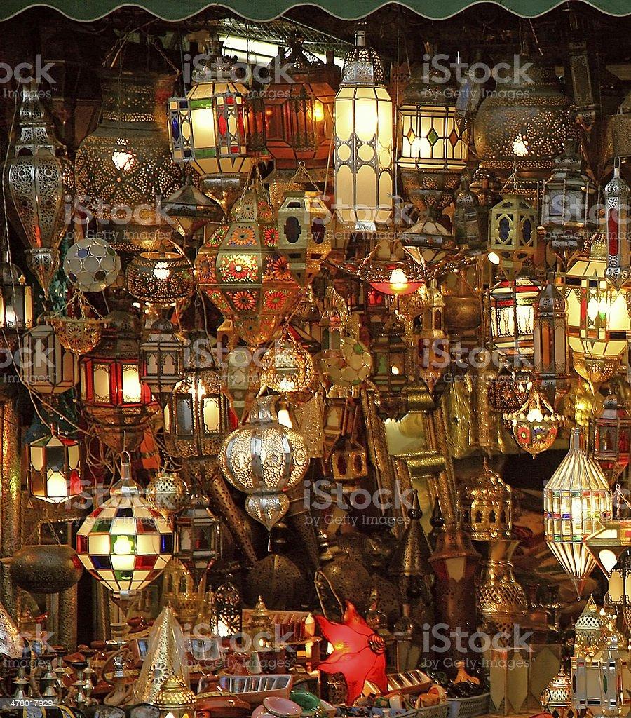 Arabian lights stock photo