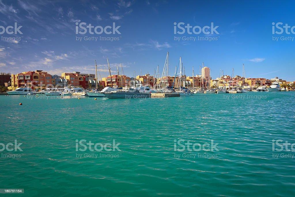 Arabian Marina in Red Sea royalty-free stock photo