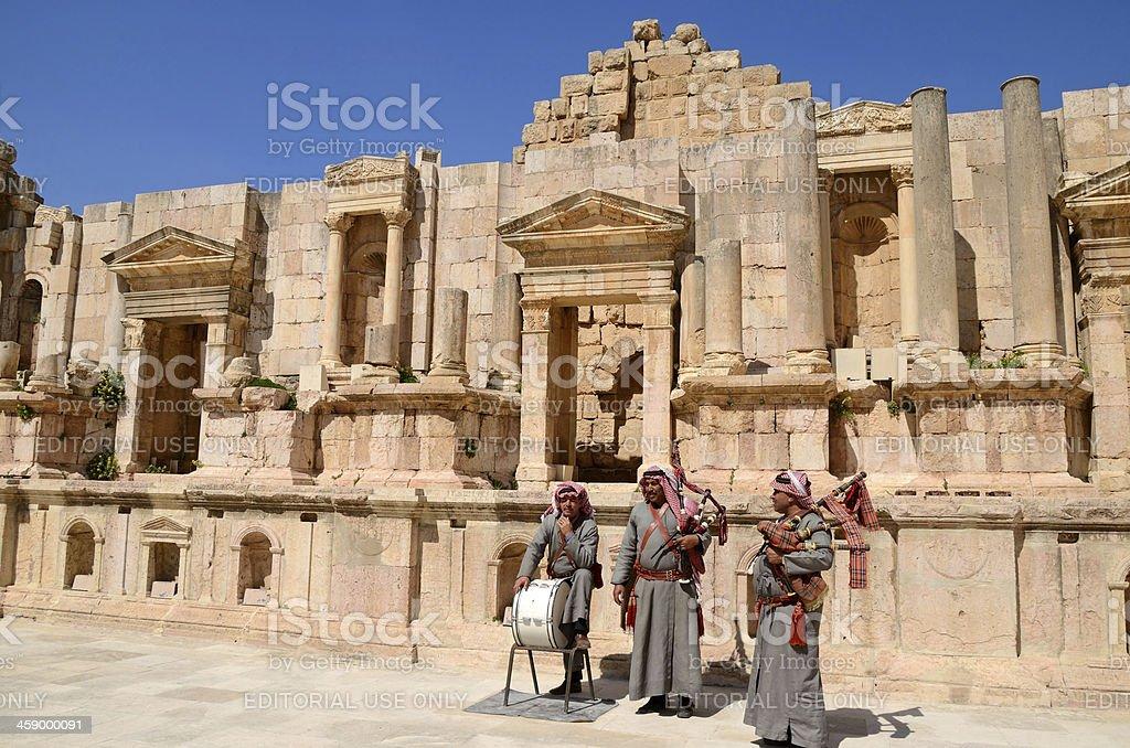 Arabian musicians stock photo