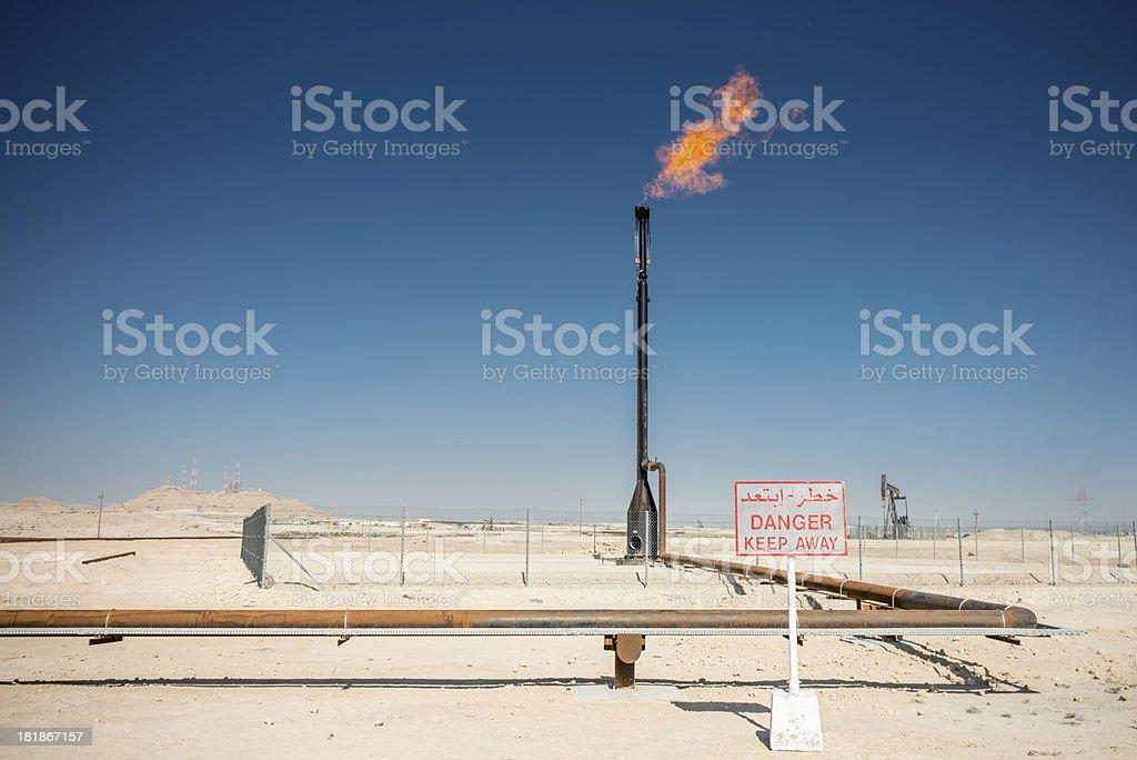 Arabian Oil Industry royalty-free stock photo