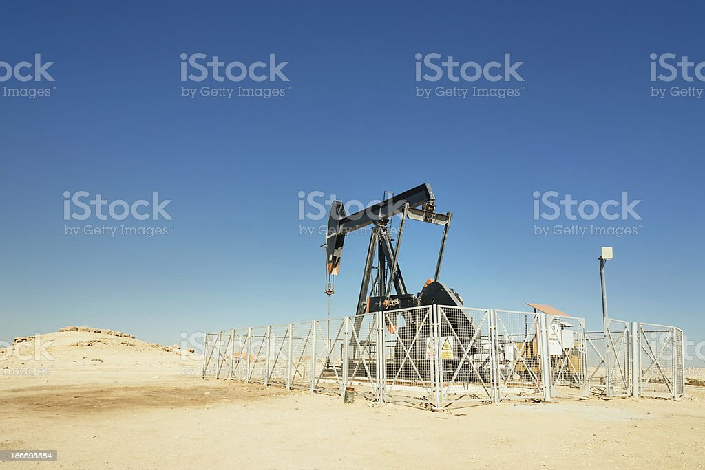 Arabian Oil industry well pumps royalty-free stock photo