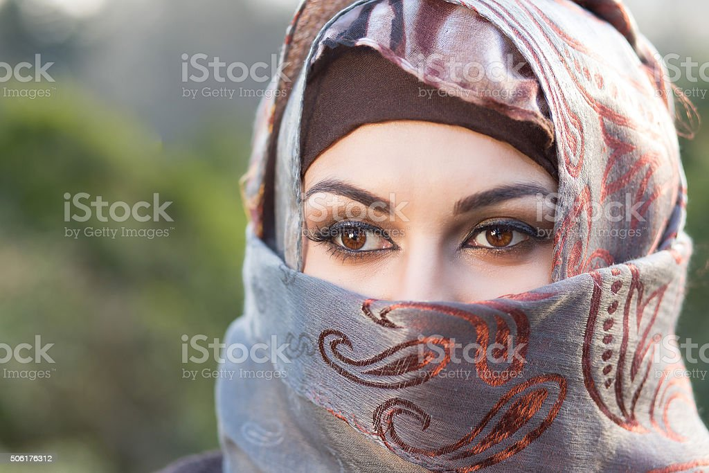 Arabian portrait stock photo