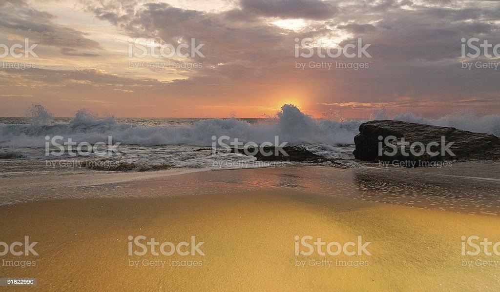 Arabian Sea at Sunset stock photo