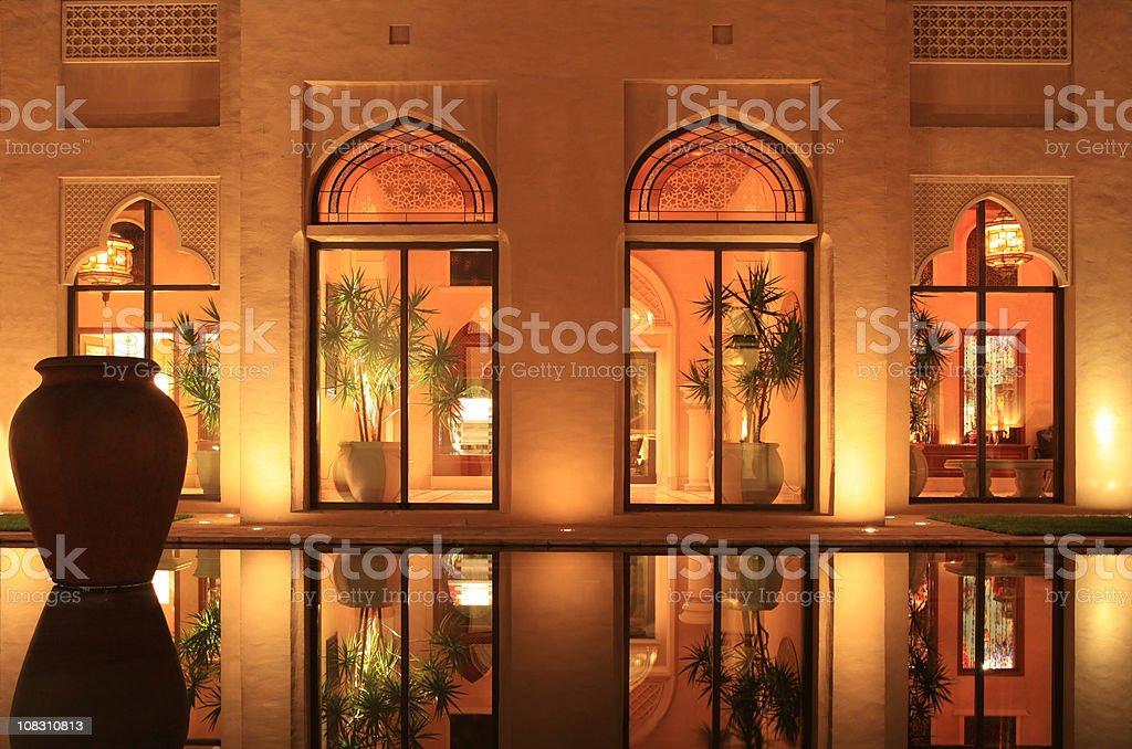 Arabian style resort stock photo