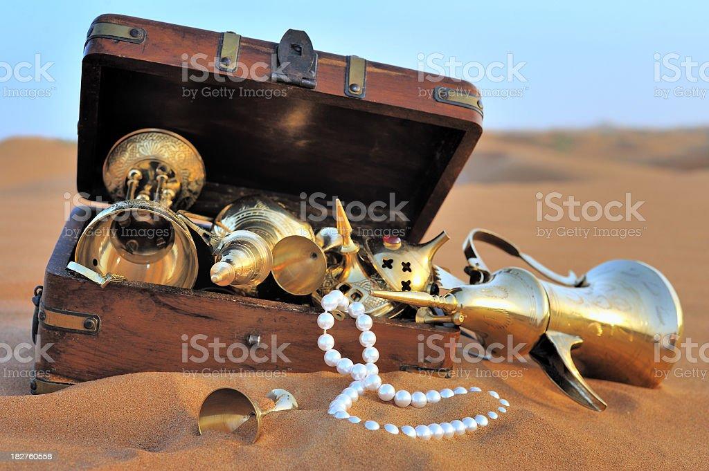 arabian treasures stock photo