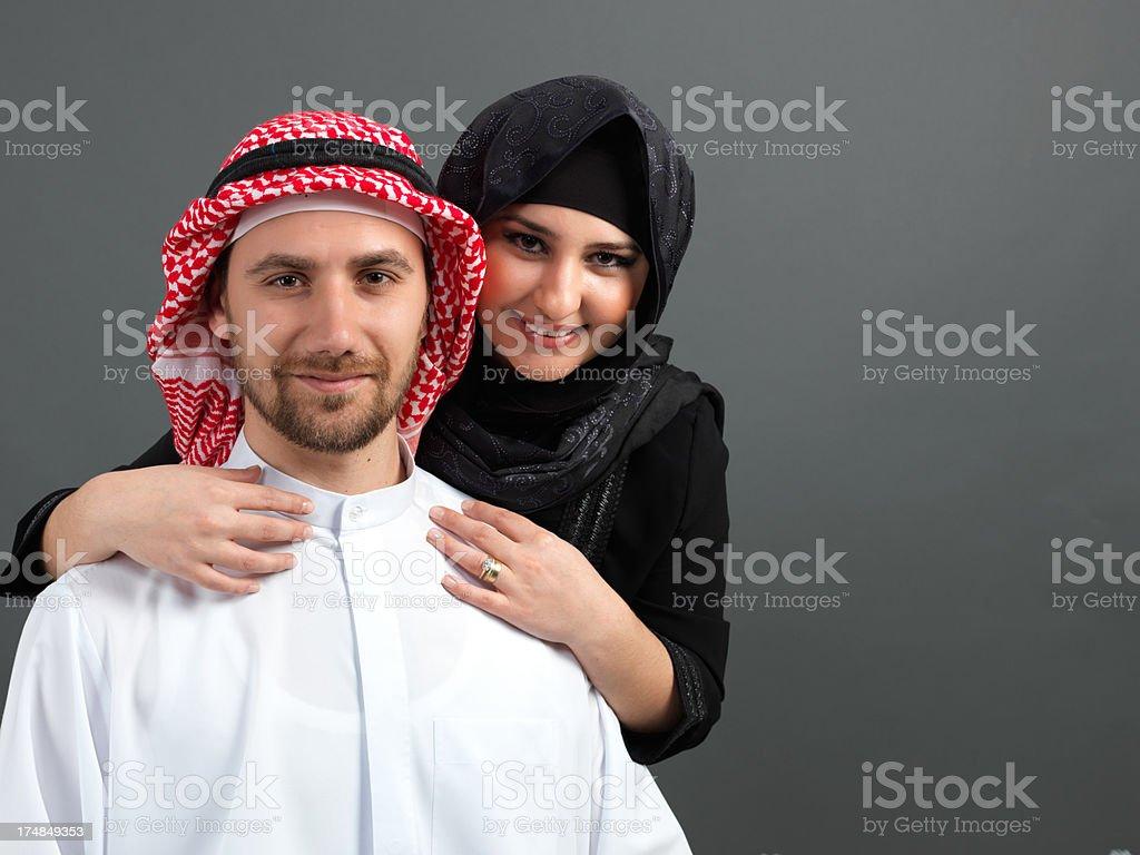 Arabian Young Couple royalty-free stock photo