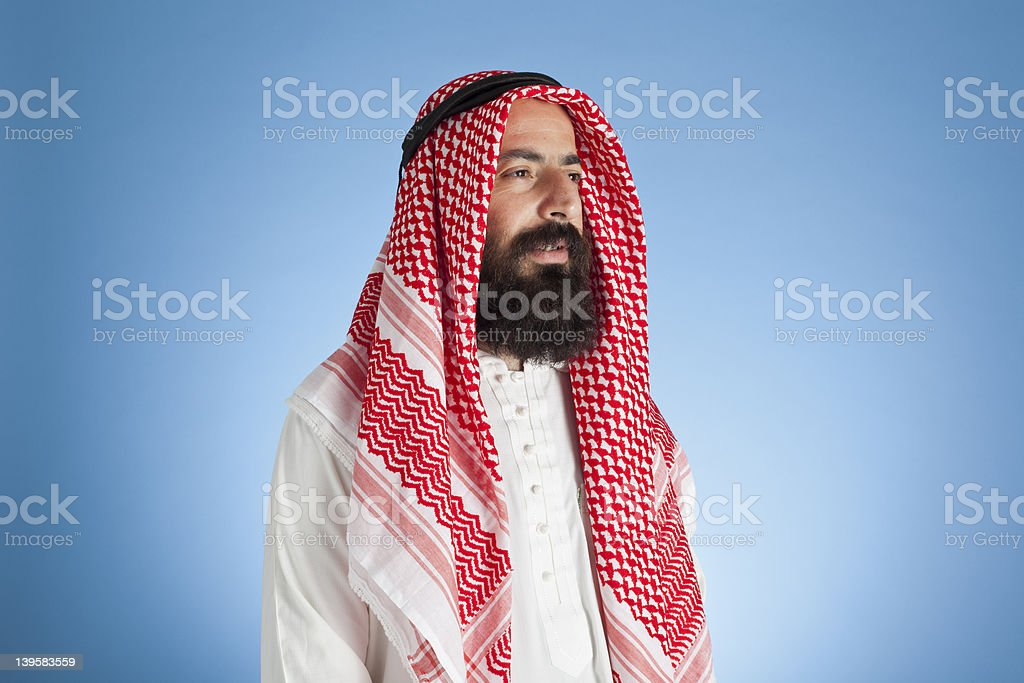 Arabic Adult Man Looking Out royalty-free stock photo