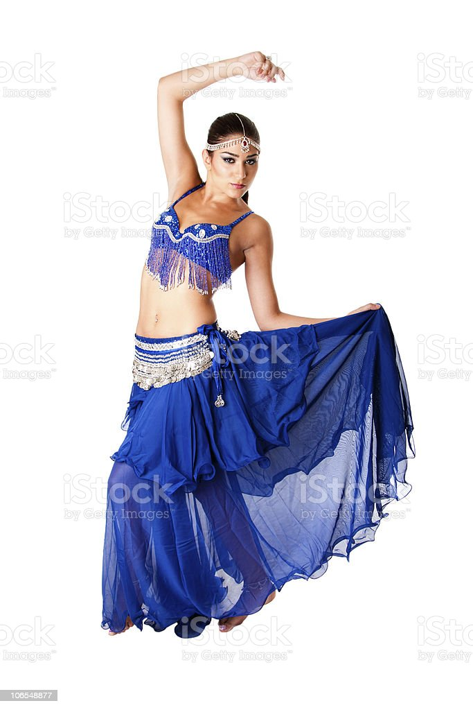 Arabic belly dancer stock photo